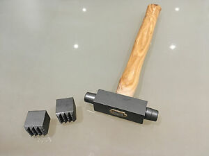 Stone-Mason-039-s-Carver-039-s-25mm-x-25mm-Double-Ended-Bouchard-Hammer-Replaceable-Ends