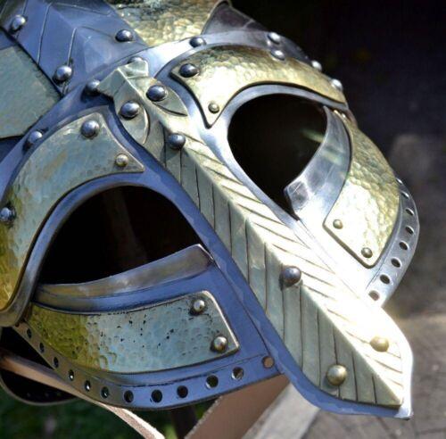 18GA SCA LARP Medieval HARDENED ANGRIM NORMAN Viking Helmet Replica II