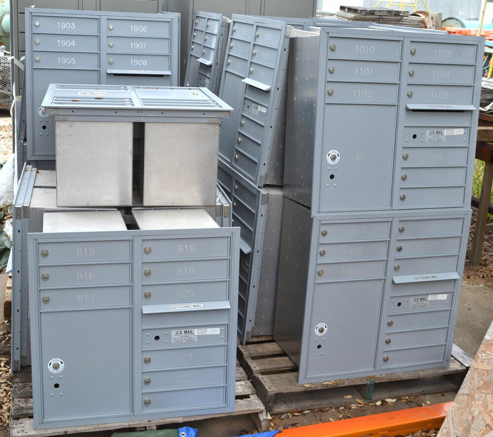 16 Door Front Load 4c Horizontal Cluster Box Unit With 2 Parcel Lockers For Sale Online Ebay