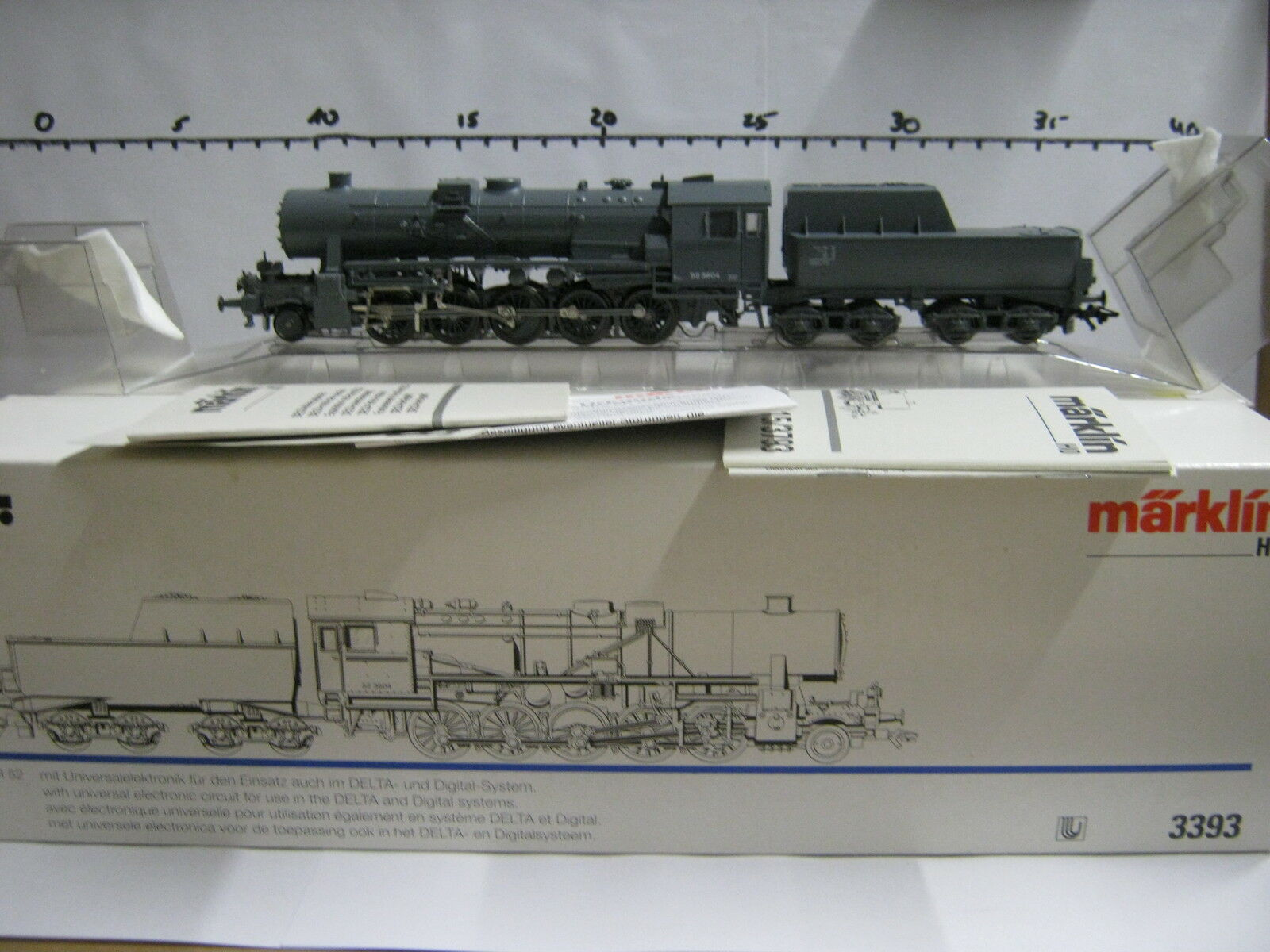 Digital   HO 3393 locomotiva a vapore BR 52 3604 DB GRIGIO  rg/re/009-109s7/2