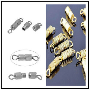 50pc-Silver-Gold-Screw-Clasp-Connector-for-Bracelet-Necklace-Jewelry-Finding-DIY