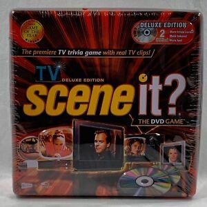 NEW-Scene-it-TV-Deluxe-Edition-DVD-Trivia-Board-Game-Tin-box