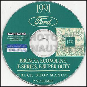 1991 Ford Van Shop Manual on CD Econoline E150 E250 E350 ...