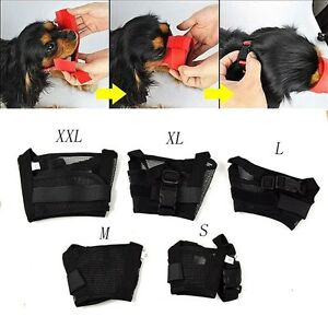 Dog-Pet-Mask-Bark-Bite-Mesh-Mouth-Muzzle-Grooming-Anti-Stop-Chewing-Adjustable