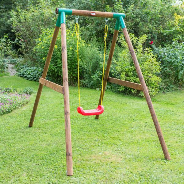 Little Tikes Swing MILANO Single Wooden Childrens Garden ...