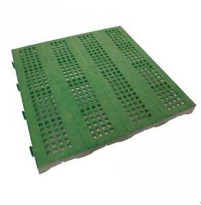 Piastrelle Da Esterno Plastica.Dettagli Su Piastrella Mattonella Da Giardino Esterno In Plastica Verde 40x40 Cm Carrabile