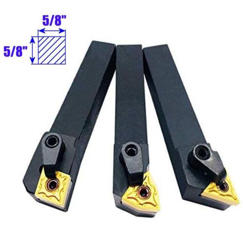 6X 8//12//16mm Lathe Mini Cutting Tool Set Carbide Tip External Turning Boring Bit