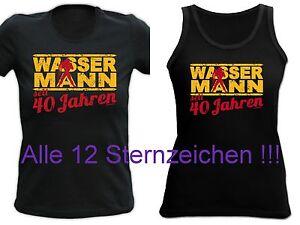 Details Zu T Shirt Zum 40geburtstag Für Damen Sternzeichen Motiv 40 Jahre Sprüche 40