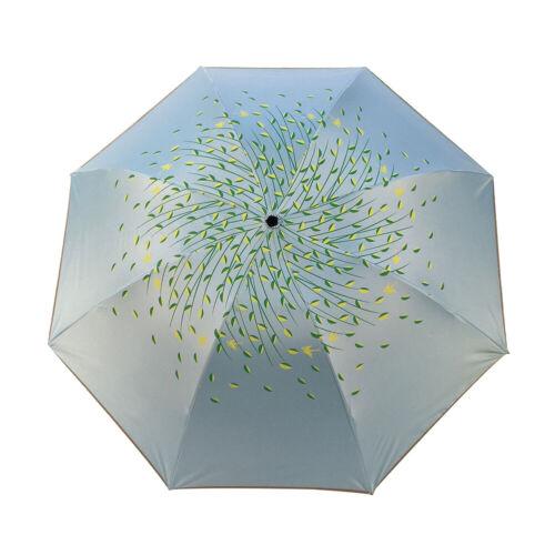 Super Compact Folding Umbrella Windproof Sun Travel Umbrella Women Summer UK