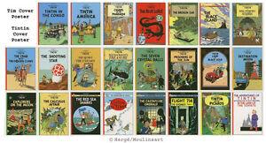 Alle-Tim-und-Struppi-Cover-Poster-Tintin-Cover-Poster-Original-Franzosisch