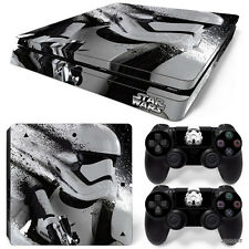 PS4 Slim Playstation 4 Console Skin Decal Sticker Star Wars StormTrooper Custom