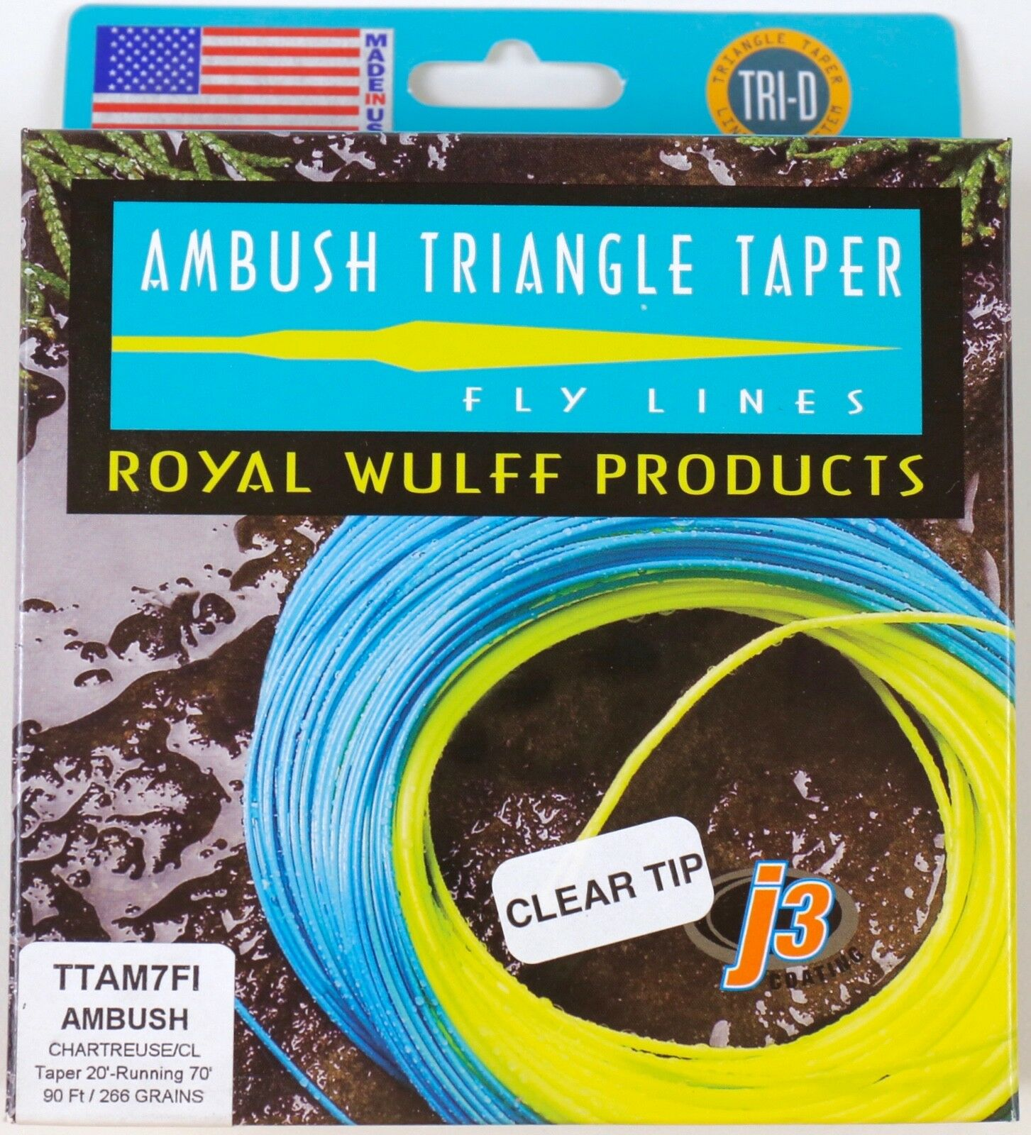 Royal Wulff Ambush Taper Clear Tip 7 Weight Fly Line Free Fast Shipping TTAM7FI