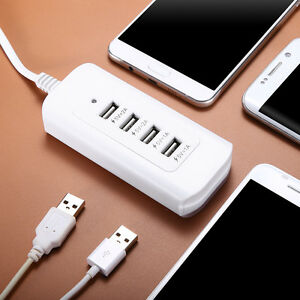 4-Multi-Port-USB-Desktop-Fast-Wall-Charger-Charging-Station-Hub-Power-Adapter