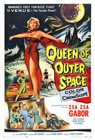 Queen Of Outer Space Movie Poster Print - 1958 - Sci-fi - One (1) Sheet Artwork