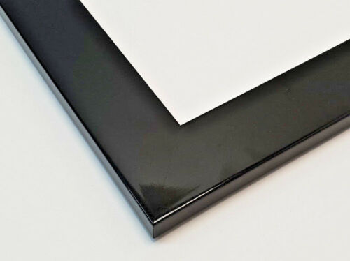 Flat Gloss Black Wood Picture Framing frame Moulding 68 x 17mm per stick 3m