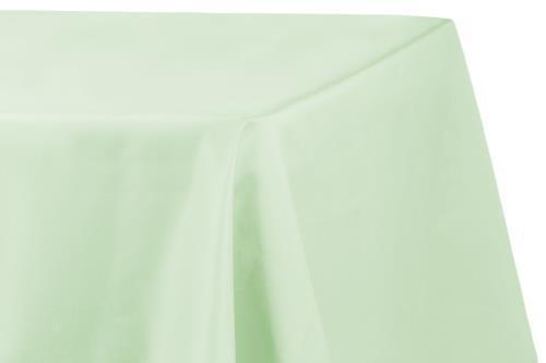 "Mint Green Lamour Satin 90/""x132/"" Rectangular Oblong Tablecloth Mint Green 1 PK"