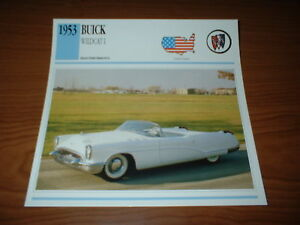 1953 Buick Wildcat I Prototype Info Spec Sheet Photo Picture Concept