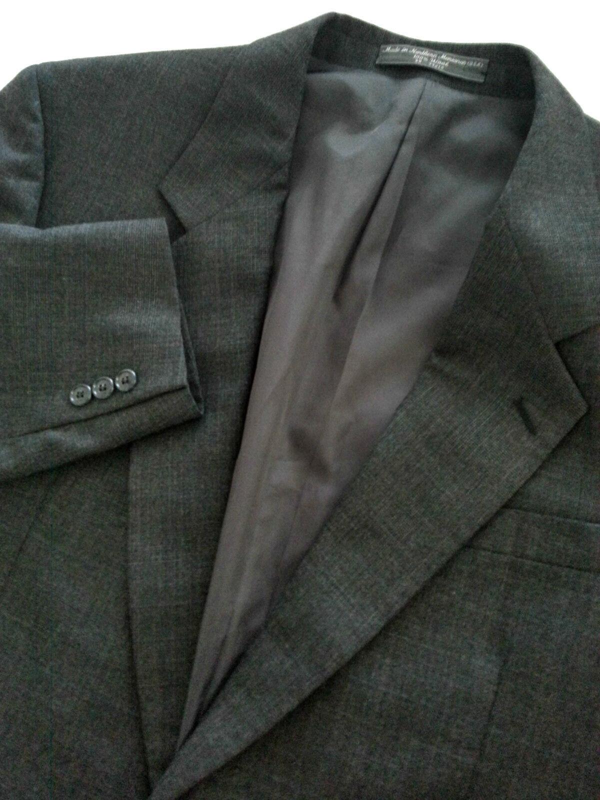 Joseph & Feiss International Men's Charcoal 2 Button Blazer Sport Coat Size 44L