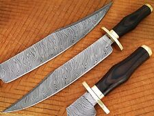 Damascus Steel Bowie Black Micarta Handle  (DM-2257)