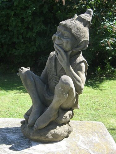 Sitting Imp Garden Gnome Statue