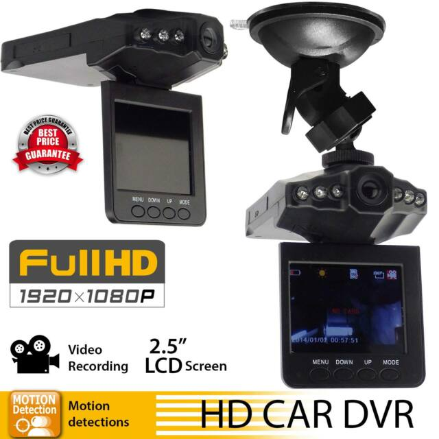 1080p HD In Car DVR Camera CCTV IR Night Vision Motion Dash Cam Video Record UK