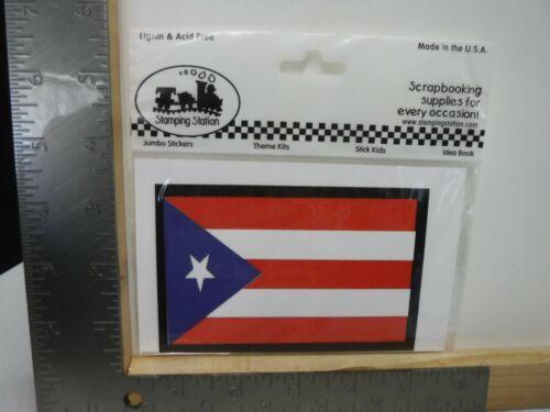 Stamping Station bandera de Puerto Rico Die Cut Adorno Nuevo A20145