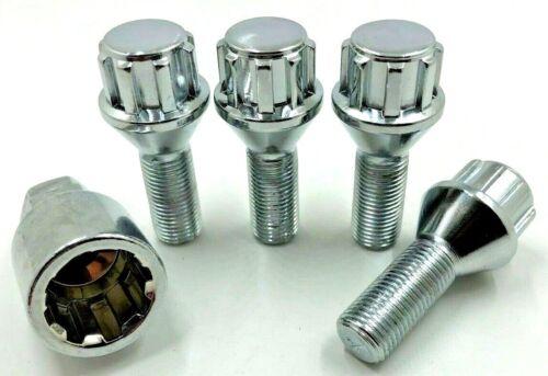 4 X Rueda de Aleación Pernos De Bloqueo Para Bmw Mini, /< 2006 41 M12 X 1.5 Tuercas Stud