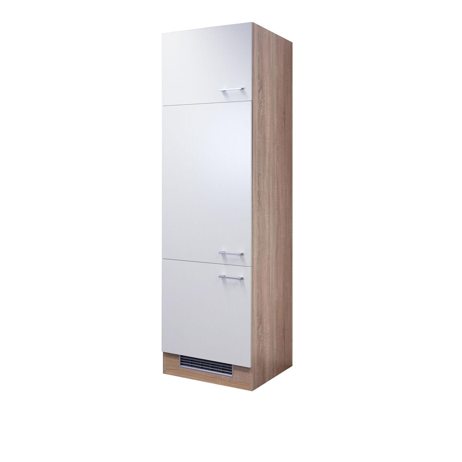 Kühlschrankumbau ROM Umbauschrank Küchenschrank Hochschrank 60 cm weiss   sonoma