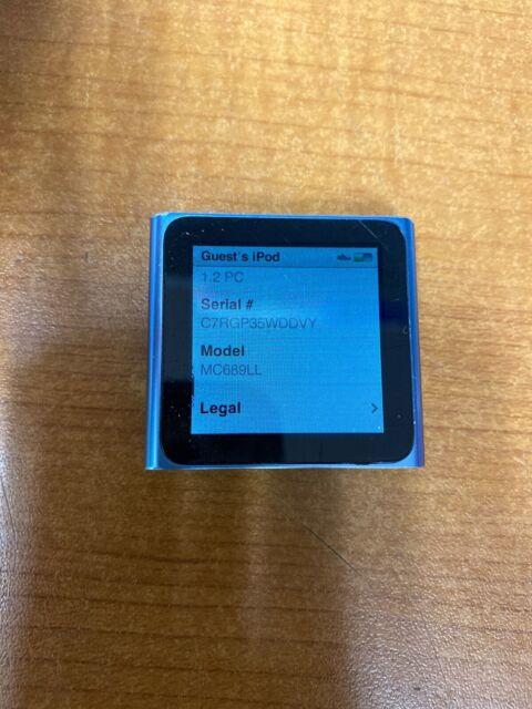 Apple Ipod Nano 6th Generation 8 Gb Mc688ll For Sale Online Ebay