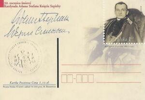 Poland prepaid postcard (Cp 1262) cardinal ADAM SAPIEHA - Bystra Slaska, Polska - Poland prepaid postcard (Cp 1262) cardinal ADAM SAPIEHA - Bystra Slaska, Polska