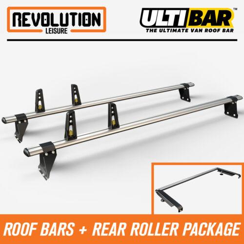 Ford Transit H1 Low 00-14 Van Guard 2 x ULTI Bars Roof Rack Aluminium + Roller
