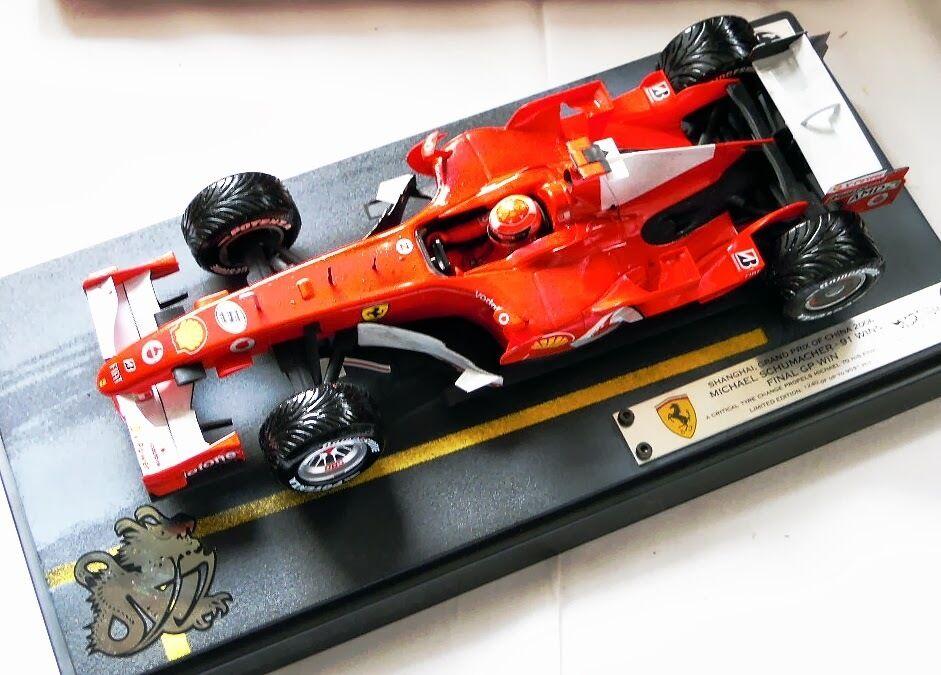 Hot Wheels j2995 j2995 j2995  M. Schumacher Ferrari, Shanghai 2006, limitée, NOUVEAU & NEUF dans sa boîte d1dd06