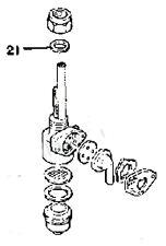 YAMAHA FUEL VALVE PETCOCK BASE GASKET TY250 TY175 DT125 DT175 MX175 RS100 LS2