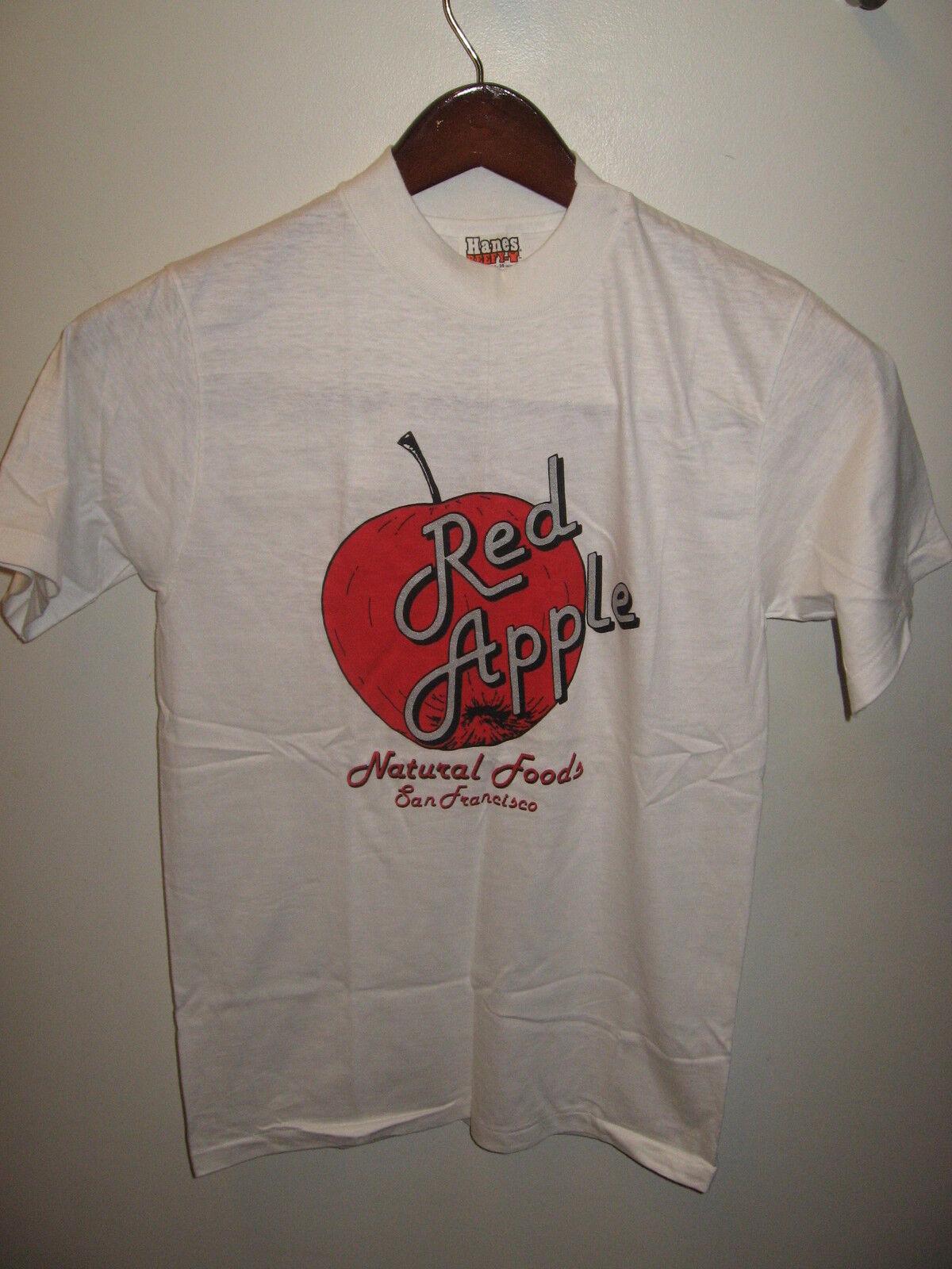 Roter Apfel Natürlich Foods San Francisco California Vintage 600ms Hanes T-Shirt  | Bekannt für seine schöne Qualität  | Good Design  | Online einkaufen