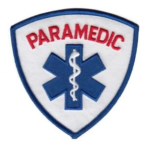PARAMEDIC PATCH - RED LETTERING - GENERIC - Star of Life
