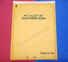 6 Large Kraft Bubble Envelopes 7 1425x20 Padded Shipping Mailers