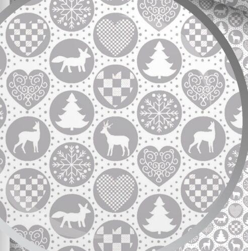 """Hermoso Diseño De Navidad 100/% Tela De Algodón material por metros más de 63/"""" de ancho"""