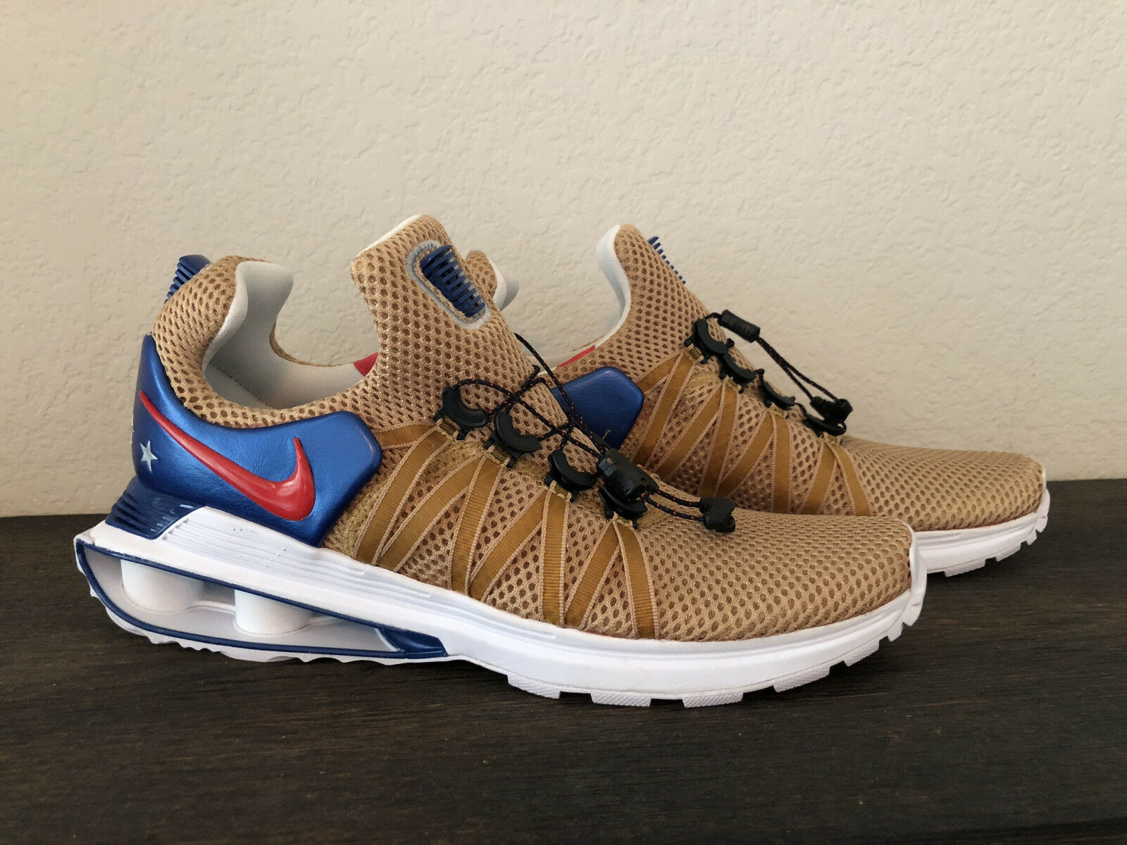 Men's Brand New Nike Shox Gravity Metallic gold Sneakers [AR1999 700] SZ 9.5