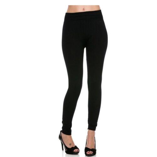 Womens Warm Winter Skinn Black Slim Leggings Stretch Pants Thick Footless Tight
