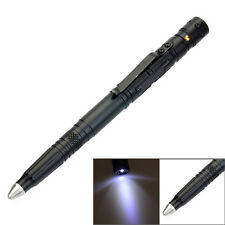 LAIX B007-2 EDC Tungsten Steel Outdoor T Black Ink Pen w/ Flashlight