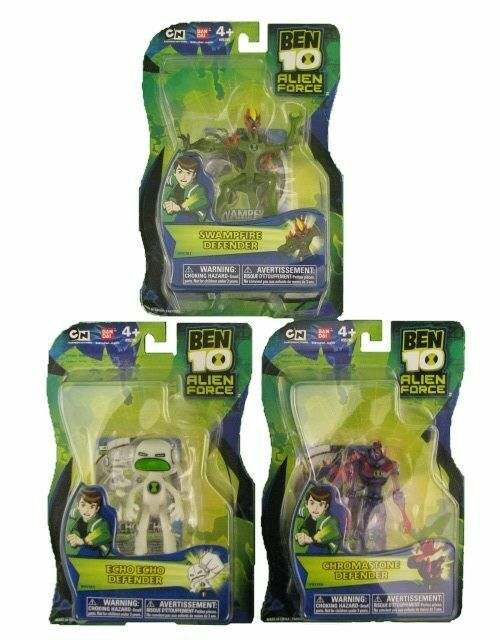 NEW BEN 10 SWAMPFIRE DEFENDER CHROMASTONE ECHO ECHO 85781 955783 95786