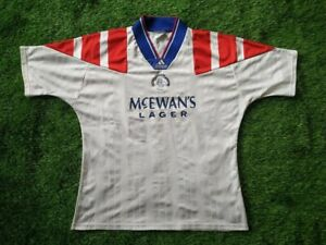 RANGERS GLASGOW 1992/1993  L SIZE 42-44 AWAY FOOTBALL SHIRT JERSEY  ADIDAS