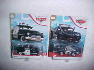 HW-DISNEY-PIXAR-CARS-034-SHERIFF-034-amp-034-APB-034-VHTF-NEW-MATTEL-DIE-CAST-POLICE-CARS