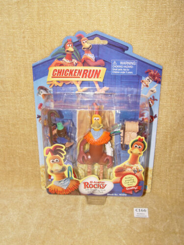 CHICKEN RUN-All American Rocky-RARE Action Figure PLAYMATES 2000 MOC sigillato