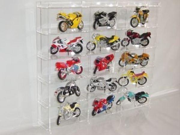 Vitrine de en  verre acrylique pour 1 18 modèles de moto sl005  avec 60% de réduction