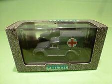 VITESSE VW VOLKSWAGEN BEETLE - ARMY MILITARY AMBULANCE 1945 - GREY 1:43 - NMIB