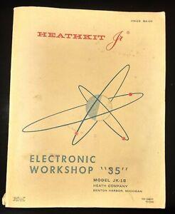 HEATHKIT-Jr-ELECTRONIC-WORKSHOP-034-35-034-MANUAL-1969-MODEL-JK-18-PRE-OWNED