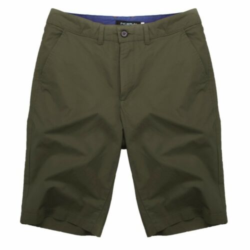 INCERUN Men/'s Chino Shorts Casual Plain Cotton Camo Cargo Work Combat Army Pants