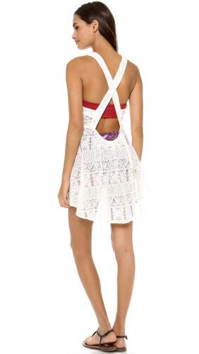 ZINKE Women/'s Ivory Criss-Cross Back Strap Dani Cover-up Dress $140 NEW
