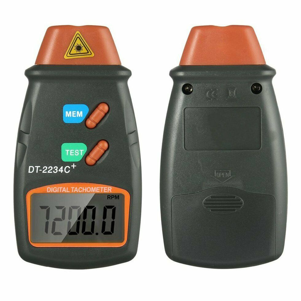 Digital Laser Photo Tachometer Non Contact RPM Tach Meter Motor Speed Gauge